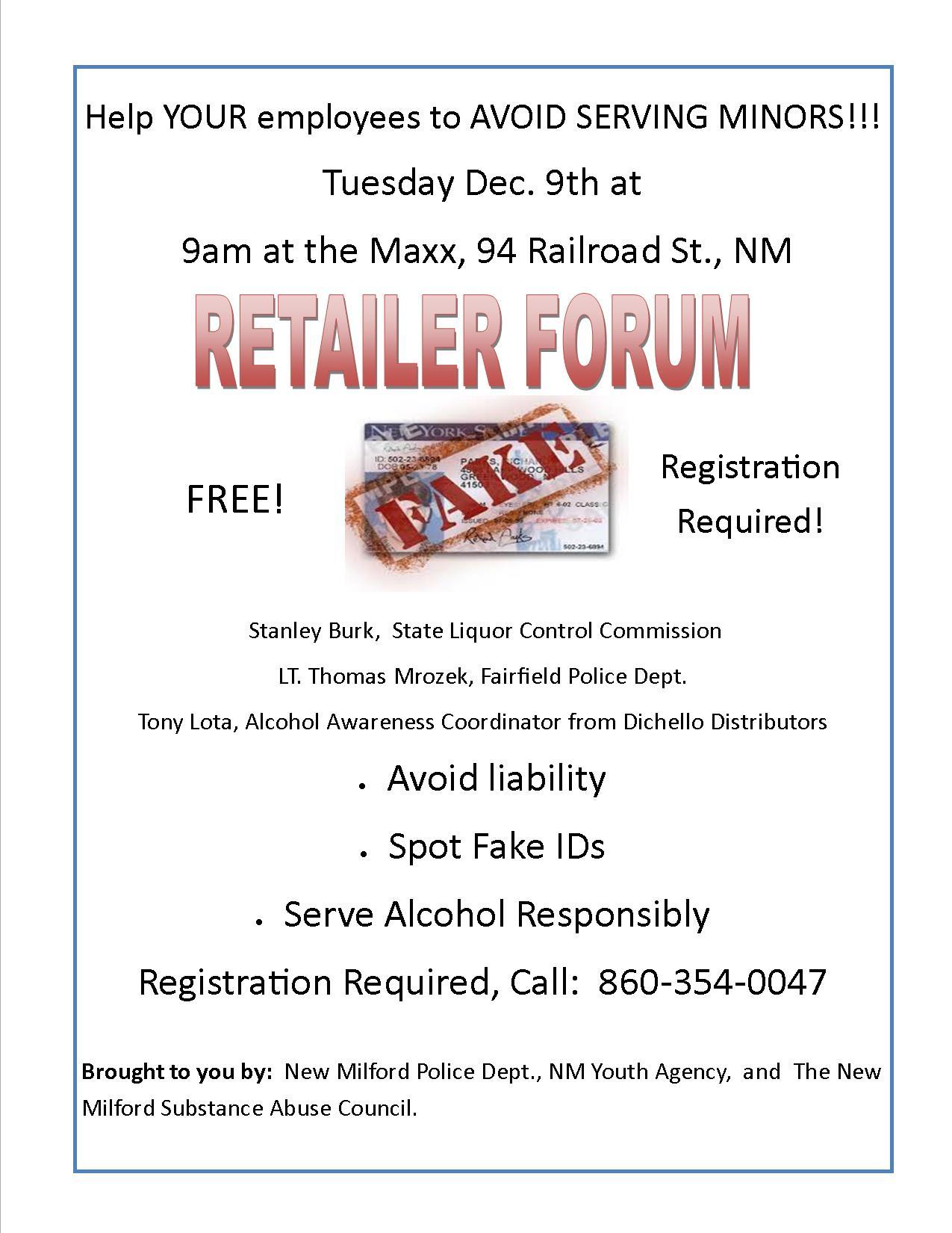 Retailer forum