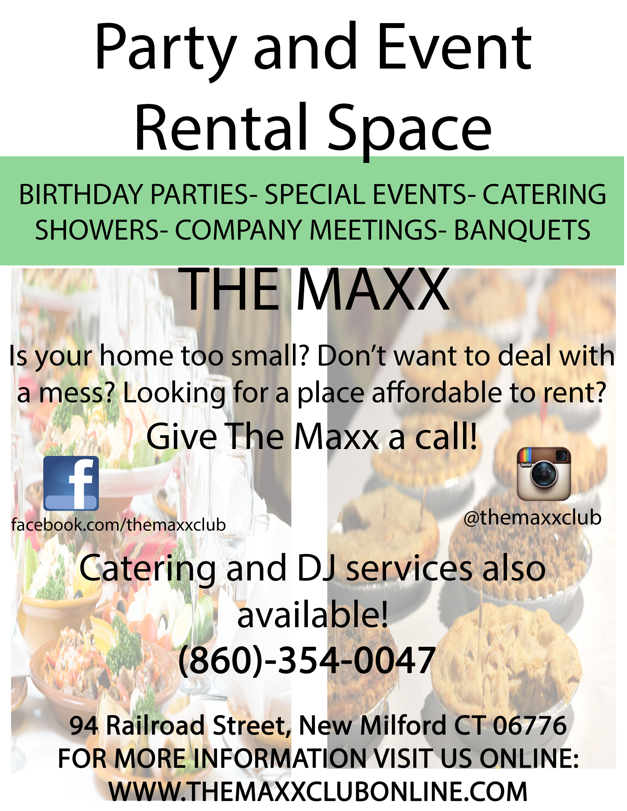The Maxx Catering and Rental Flyer1