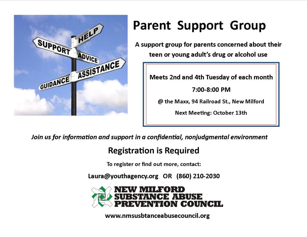 Parent support group OCtober 13