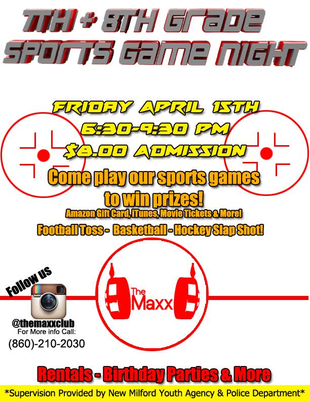 7th & 8th sports night 15th